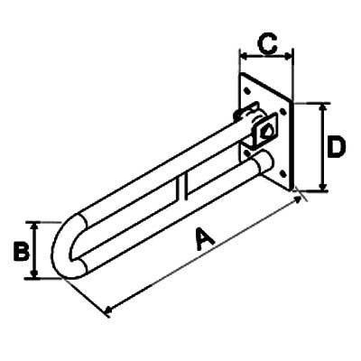 Uchwyty Uchylne do WC INOX  fi 25mm - Różne Rodzaje