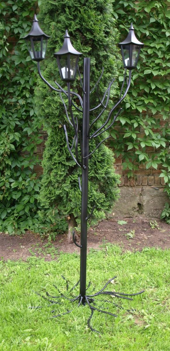 Lampa ogrodowa 3-pł 220 cm STALOWA OGR2