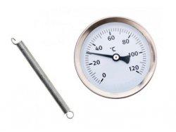 Termometr opaskowy , przylgowy do C.O. ze sprężyną