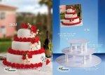 Kardasis - stojak okrągły na torty weselne 3 paterowy