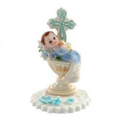 Hokus - Chłopiec z chrzcielnicą - dekoracja tortu na chrzest