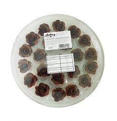 Róża mała 22 szt. czekoladowa
