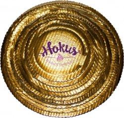 Podkład tortowy tacka z tektury złota śr. 24 cm