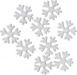 Dekoracja cukrowa - Płatki śniegu - 10 szt