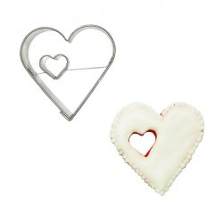 Wykrawaczka do ciastek SERCE z sercem