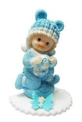 Dziecko na podusi - niebieskie - Figurka na tort