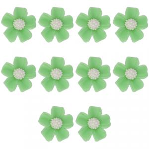 Kwiatki cukrowe na tort NIEZAPOMINAJKA (8x10szt) zielone