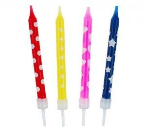 Świeczki kolorowe z nadrukiem