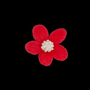 Kwiatki cukrowe na tort Jaśmin czerwony 8 x 10 szt.