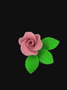 Róża mała z listkami - wrzosowa 20 kompletów