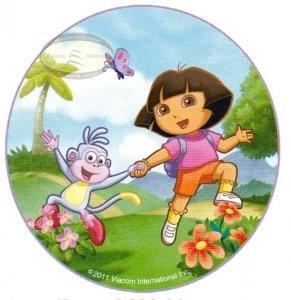 Kardasis - opłatek na tort okrągły Dora na Łące