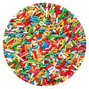 Posypka cukrowa PAŁECZKI KOLOROWE na tort deser 10x50g