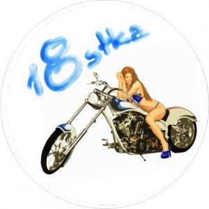 Hokus - Motor Girl opłatek na tort okrągły 18-tka
