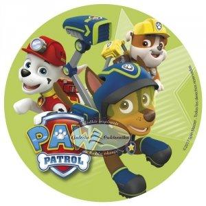 Opłatek na tort Psi Patrol A