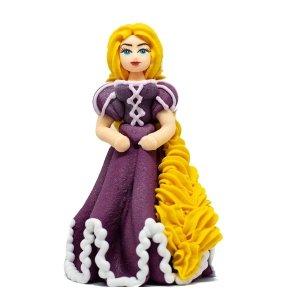 Figurka cukrowa na tort KSIĘŻNICZKA fioletowa 10,5cm