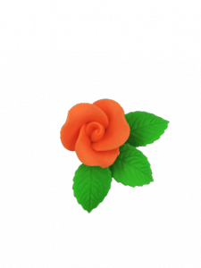 Róża mała z listkami - pomarańczowa 20 kompletów