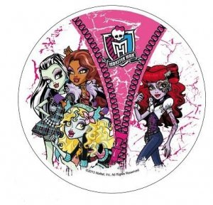 Modecor - opłatek na tort okrągły Monster High B