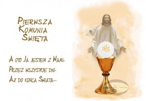 Hokus - opłatek na tort komunijny duży Jezus