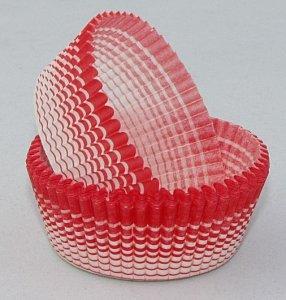 Papilotki - foremki do mufinek czerwone  50 mm 100 szt.
