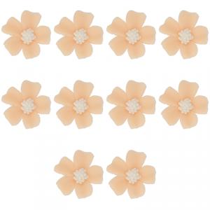 Kwiatki cukrowe na tort NIEZAPOMINAJKA (8x10szt) herbaciane