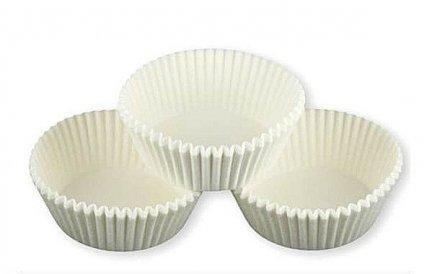 Papilotki - foremki do mufinek białe 40 mm 100 szt.