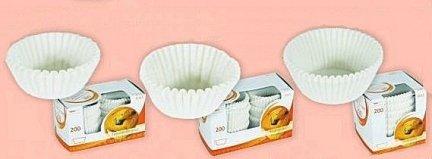 Papilotki - foremki do mufinek białe fi 35 mm 200 szt.