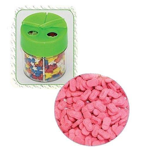 Posypka dekoracyjna confetti buciki różowe 360g