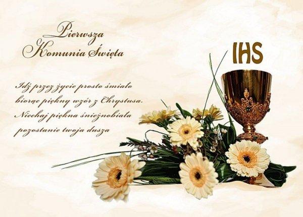 """Hokus - opłatek na tort komunijny """"Kwiaty"""" 12 szt."""
