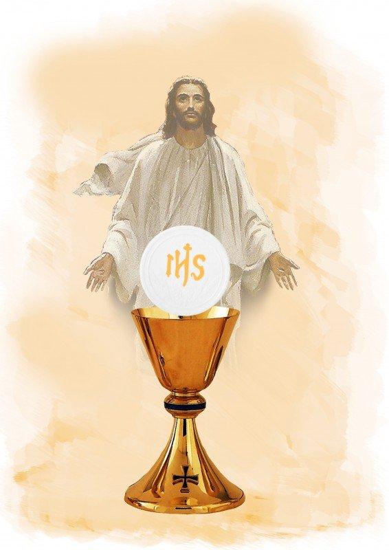 Hokus - opłatek na tort komunijny duży Jezus - 6 szt