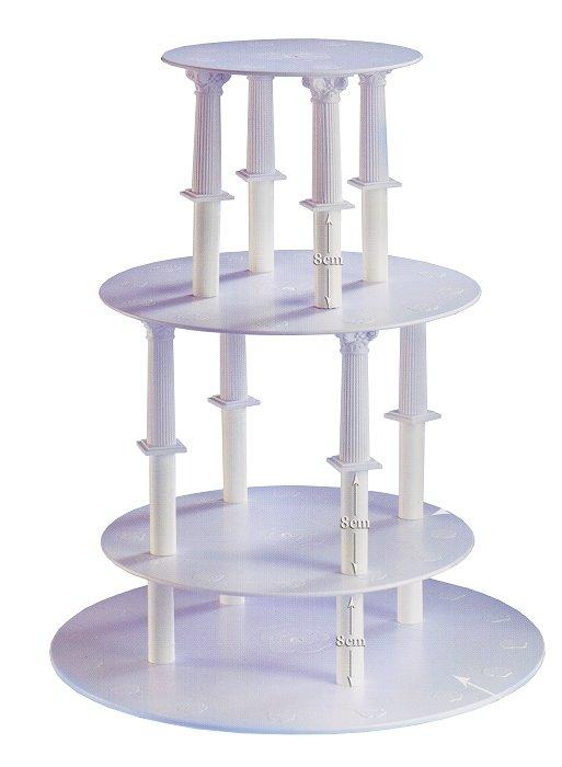 Kardasis - stojak okrągły na torty weselne 8 Kolumn