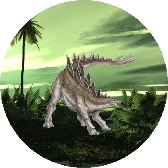 Hokus - opłatek na tort okrągły Stegosaurus