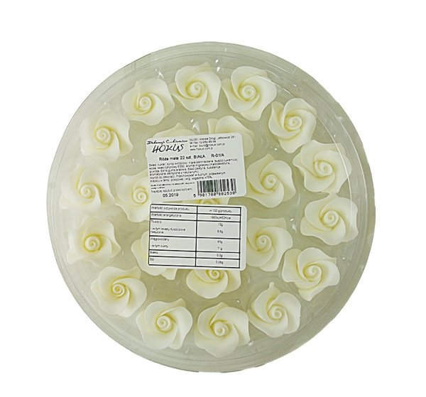 Róża mała 22 szt. biała