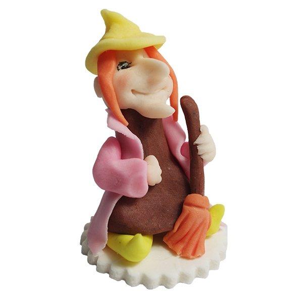 Figurka cukrowa na tort - Czarownica - Halloween