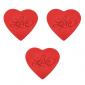 Dekoracja na tort cukrowe serca LOVE duże (12x3szt)
