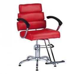 Fotel Fryzjerski Fiore Czerwony BR-3857 BS