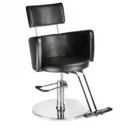 Fotel Fryzjerski Luigi BR-3927 Czarny BS