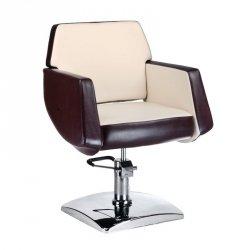 Fotel Fryzjerski Nico Brązowo-kremowy BD-1088 BS