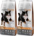 Nutrilove Premium Adult Large - ze świeżym kurczakiem 2x12kg (24kg)