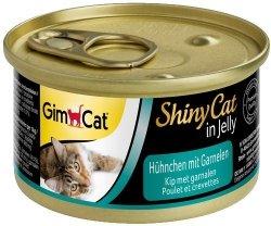 GimCat Shiny Cat Kurczak i krewetki 70g