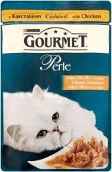 GOURMET Perle - Mini fileciki kurczaka w sosie 85g. Dla dorosłych kotów.