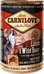 Carnilove Dog Lamb & Wild Boar - mokra karma dla dorosłych psów 400g