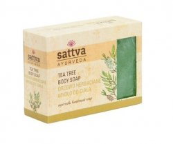 Tea Tree Natural Glycerine Soap Sattva, 125g