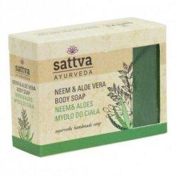 Neem & Aloe Natural Glycerine Soap Sattva, 125g