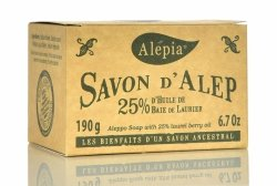 Alep Soap 25% Laurel Oil, 190g