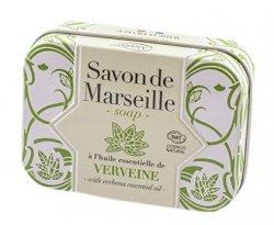 Verbena Marseille Soap Bar in Metal Box, Alepia, 100 g