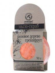 Mydło Peeling Glicerynowe z Gąbką Loofah Drzewo Różane i Grejpfrut, 100% Naturalne