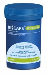 BICAPS BERBERINE Formeds, Berberyna, 60 kapsułek