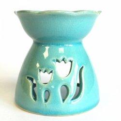 Kominek Zapachowy Ceramiczny Zielony Tulipan