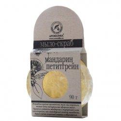 Mydło Peeling Glicerynowe z Naturalnymi Olejkami, Mandarynka & Petitgrein