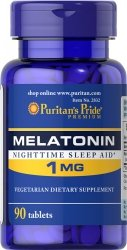 Melatonina 1 mg, Puritan's Pride, 90 tabletek